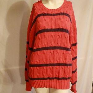 Ralph Lauren Polo Orange Stripped Sweater